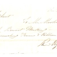 Kirkcaldy, 19th July 1843, [Mrs] Oliphant, To [Mr Morton], [...] £-/2/6, [...] £-/1/-, £-/3/6, [Received Payment] M. Morton
