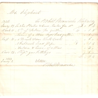 Mrs Oliphant. To Robert Brownlee, Kirkcaldy. 1842. Janu 29th [...] [...]. (total) £-/15/4. 1843 Janu 2nd - Settled, Robert Brownlee.
