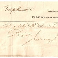 Mrs Oliphant, 1843, Kirkcaldy. To Robert Hutchison, & Co. Potatoes, £-/8/-, Paid