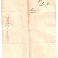 Mrs Oliphant, 1843, R. Hutchison, £-/8/-. Paid